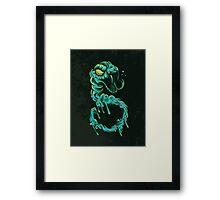 Shutter Shade Sludge Serpent Framed Print