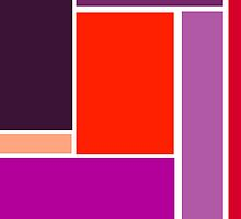 Bold, Abstract Geometric Design in Purple and Red by ArtformDesigns