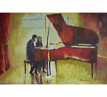 Piano Lesson Photographic Print