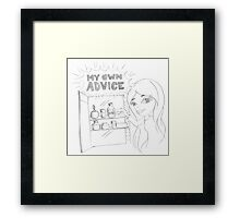 PENCIL ART - Practice What We Preach Framed Print