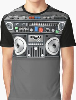 Retro Star Wars Boom box/Ghetto Blaster Darth Vader Graphic T-Shirt