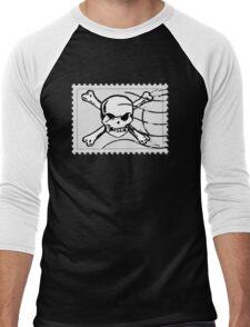 postage stamp Men's Baseball ¾ T-Shirt