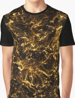 Neon Flame Gold Graphic T-Shirt