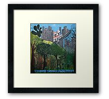 Roots of the city Framed Print