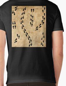 Marauders Map Footprints Mens V-Neck T-Shirt