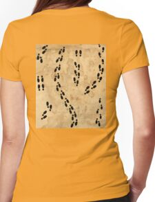 Marauders Map Footprints Womens Fitted T-Shirt