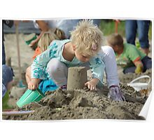 child playing with sand Poster