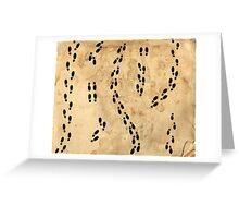 Marauders Map Footprints Greeting Card