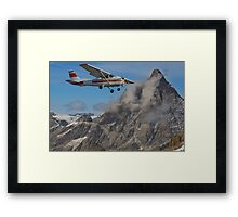 Flying past the Matterhorn Framed Print