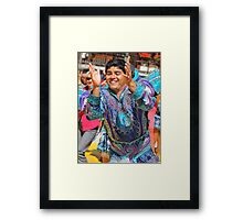 Peruvian Dancer Framed Print