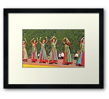 Uzbeki dancing girls Framed Print