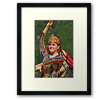 Uzbeki dancing girl Framed Print