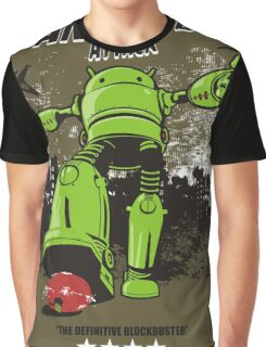 ANDROID ATTACK Graphic T-Shirt