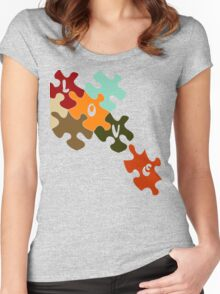 Pieces of love  Women's Fitted Scoop T-Shirt