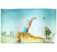 Butterfly, yoga in Barcelona Poster