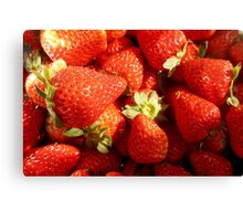 Strawberries rich, sweet and juicy. Canvas Print
