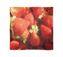 Strawberries rich, sweet and juicy. Scarf