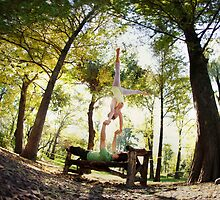 Acroyoga at Central Park, New York  by Wari Om  Yoga Photography