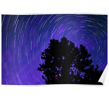 Ohio Night Sky - Star Trails Poster