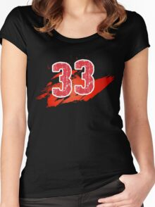 Number 33 Women's Fitted Scoop T-Shirt