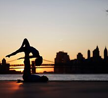 Acroyoga at Williamsburg, New York by Wari Om  Yoga Photography