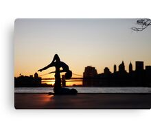 Acroyoga at Williamsburg, New York Canvas Print