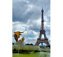 View from Trocadero in Paris Photographic Print