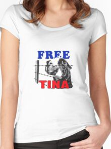 FREE TINA Women's Fitted Scoop T-Shirt