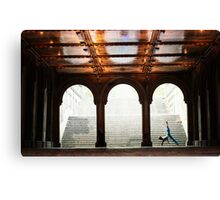 Yoga at Bethesda Terrace, Central Park, New York Canvas Print