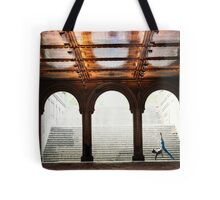 Yoga at Bethesda Terrace, Central Park, New York Tote Bag