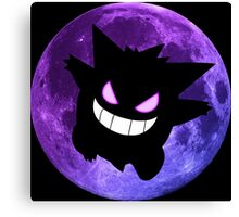 pokemon gengar moon anime manga shirt Canvas Print