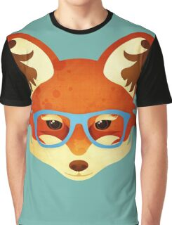 Hipster Fox Graphic T-Shirt
