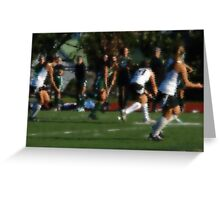 100511 221 0 water color field hockey Greeting Card