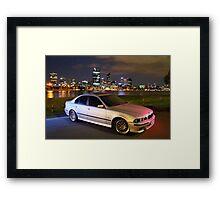 M5 BMW 540i Framed Print