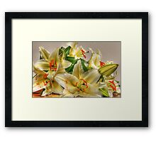 Lillies In Bloom Framed Print