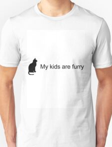 My Kids Are Furry (Cat Silhouette) T-Shirt
