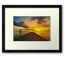 Curacao Sunset Seascape HDR  Framed Print