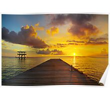 Curacao Sunset Seascape HDR  Poster