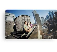 Yoga meditation in a rooftop, New York Metal Print