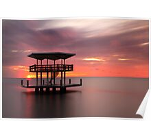 Curacao Sunset Seascape Long Exposure Poster