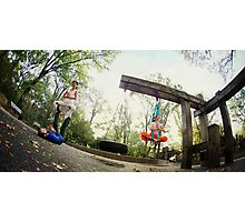 Acroyoga and Aerial Yoga at Central Park, New York Photographic Print