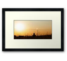 Yoga with the Statue of Liberty, New York Framed Print