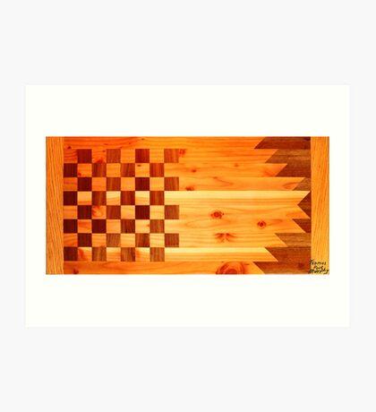 Woodworking Flag Art Print