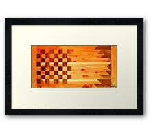 Woodworking Flag Framed Print
