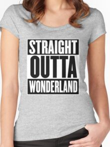 Straight Outta Wonderland T Shirt Women's Fitted Scoop T-Shirt