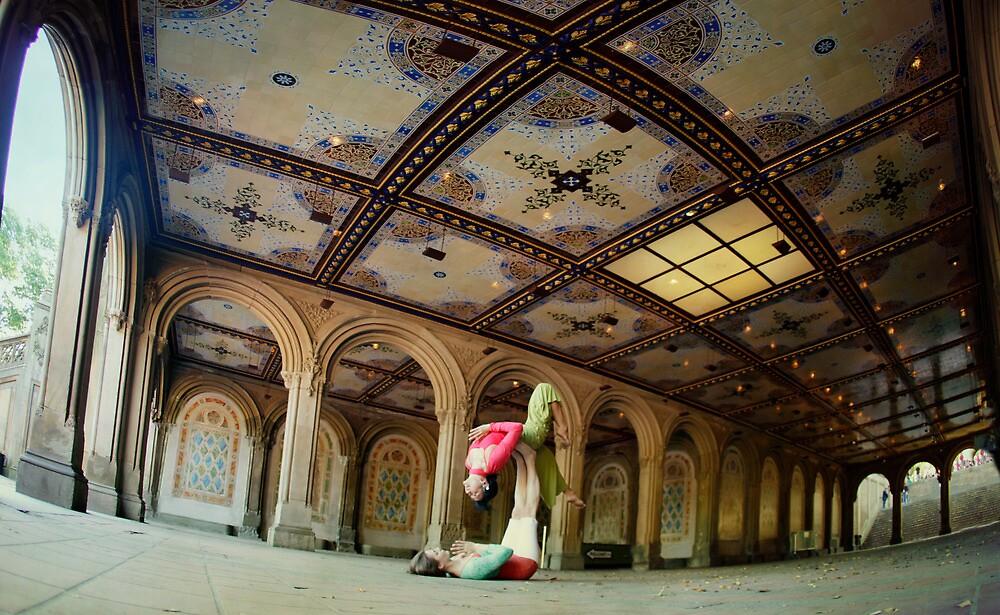 Acroyoga at Bethesda Terrace, New York by Wari Om  Yoga Photography