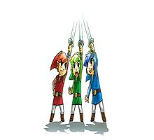 Triforce Heroes  Photographic Print