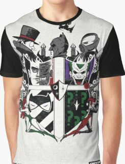Criminal Coat of Arms- White Graphic T-Shirt