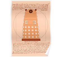 Vitruvian Dalek Poster