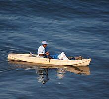 Fishing In The Morning Light - Pescar En La Luz De La Manaña by Bernhard Matejka